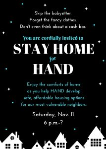 Invitation to Stay Home for HAND 2017