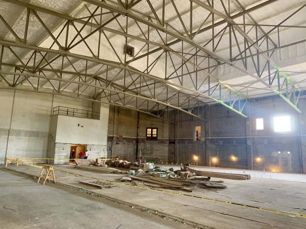 The old gym is being preserved.